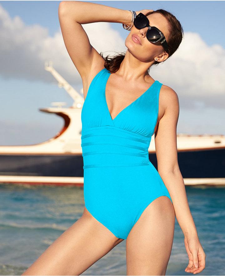 cab5347b2e561 LaBlanca La Blanca Strappy One Piece Swimsuit Swimsuit, $70 | Macy's ...