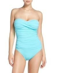 LaBlanca La Blanca Twist Front Bandeau One Piece Swimsuit