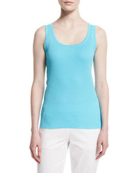 Magaschoni Scoop Neck Ribbed Tank