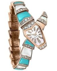 Serpenti diamond turquoise watch medium 3714623