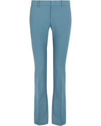 Gucci Stretch Wool Flared Pants Sky Blue