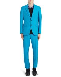 Versace Skinny Fit Mohair Wool Suit