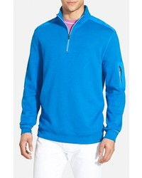 Aquamarine Zip Neck Sweater