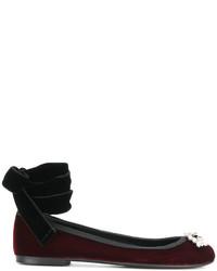 Bailarinas burdeos de Giuseppe Zanotti Design