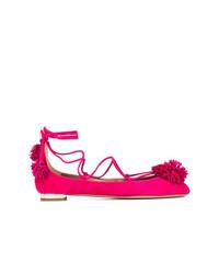 Bailarinas de ante rosa de Aquazzura