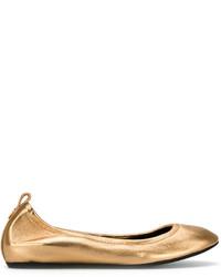 Bailarinas de cuero doradas de Lanvin