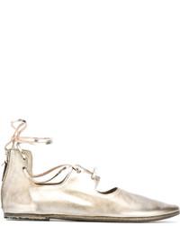 Bailarinas de cuero doradas de Marsèll