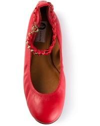 Bailarinas de cuero rojas