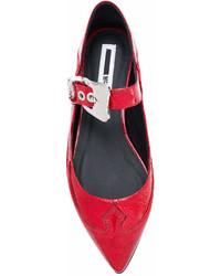 Bailarinas de cuero rojas de MCQ