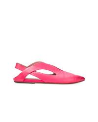Bailarinas de cuero rosa de Marsèll