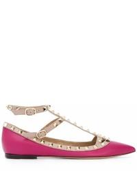 Bailarinas de cuero rosa de Valentino