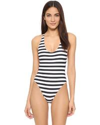 Bañador de rayas horizontales en blanco y negro de Proenza Schouler