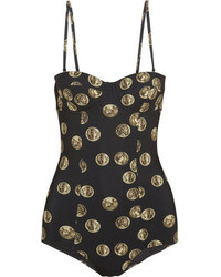 Bañador estampado negro de Dolce & Gabbana