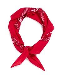 Bandana en rojo y blanco de Topman