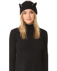Bandeau en tricot noir Eugenia Kim