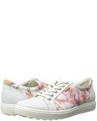 Baskets basses à fleurs blanches Ecco