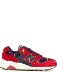 Baskets basses écossaises rouges New Balance