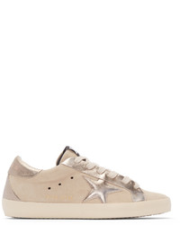 Baskets basses en cuir beiges Golden Goose Deluxe Brand