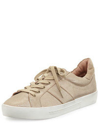 Baskets basses en cuir beiges Joie
