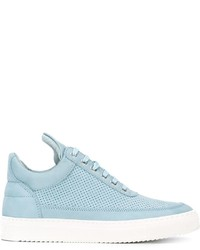 Baskets basses en cuir bleu clair Filling Pieces