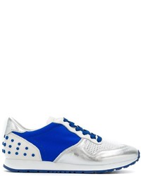 Baskets basses en cuir bleues Tod's