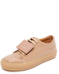 Baskets basses en cuir marron clair Acne Studios