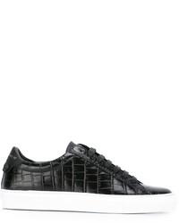 Baskets basses en cuir noires Givenchy