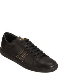 Baskets basses en cuir noires Saint Laurent