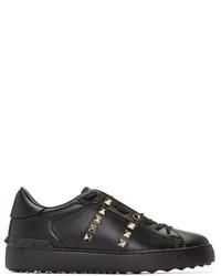 Baskets basses en cuir noires Valentino