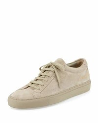 Baskets basses en daim marron clair Common Projects