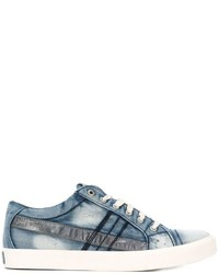 Baskets basses en denim bleu clair Diesel
