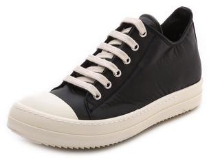 Rick Owens Drkshdw Toile Top Sneakers Haut - Noir CQjVufC