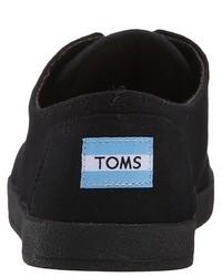 Baskets basses en toile noires Toms