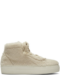 Baskets montantes blanches Helmut Lang