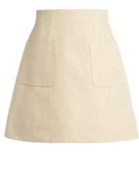 DELPOZO A Line Linen Mini Skirt