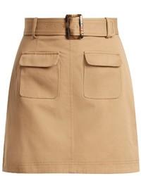 Patch pocket a line cotton mini skirt medium 6844291