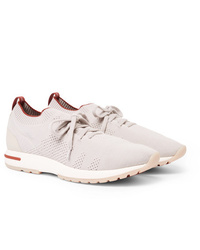 Loro Piana 360 Flexy Walk Leather Trimmed Wish Wool Sneakers