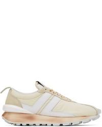 Lanvin Beige Bumpr Sneakers