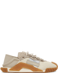 Dolce & Gabbana Beige Taupe Ns1 Low Sneakers