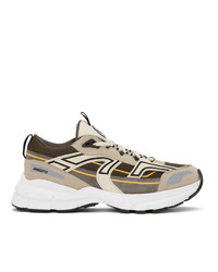 Axel Arigato Grey And Taupe Marathon R Trail Sneakers