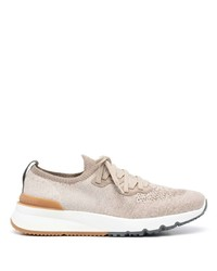 Brunello Cucinelli Knitted Low Top Lace Up Sneakers