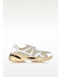 McQ by Alexander McQueen Mcq Alexander Mcqueen X Puma White Leather And Mesh Run Lo Sneakers