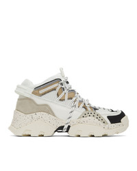 Kenzo Off White And Grey Inka Sneakers