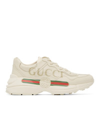 Gucci Off White Rhyton Logo Sneakers