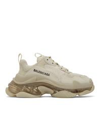 Balenciaga Off White Triple S Sneakers