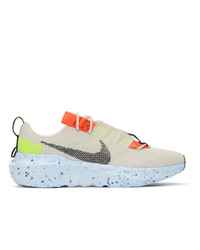 Nike Taupe And Orange Crater Impact Sneakers