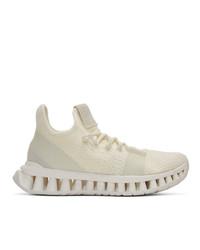 Z Zegna White Techmerino A Maze Sneakers