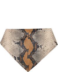 1017 Alyx 9Sm Grey Tan Leather Animal Print Bandana Scarf