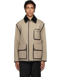 Burberry Beige Canvas Horseferry Jacket