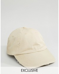 Reclaimed Vintage Inspired Distressed Baseball Cap Sand